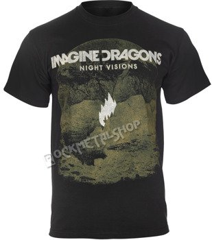 koszulka IMAGINE DRAGONS - FLAME BLACK