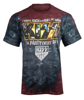 koszulka KISS - PARTY EVERY DAY barwiona