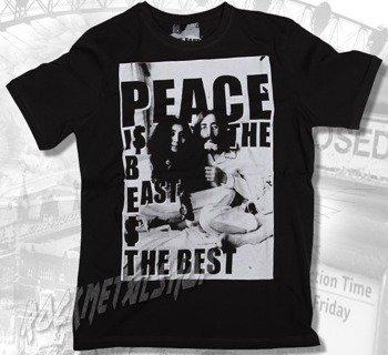 koszulka LENNON & ONO - PEACE antracyt
