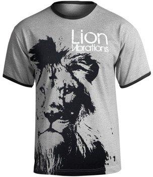 koszulka LION VIBRATIONS szary melanż