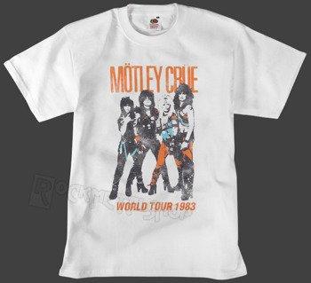 koszulka MOTLEY CRUE - VINTAGE WORLD TOUR biała