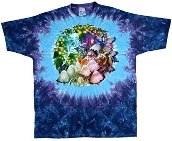 koszulka MUSHROOM GARDEN barwiona