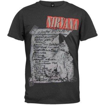 koszulka NIRVANA - MILAN SET LIST