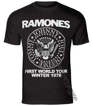 koszulka RAMONES - FIRST WORLD TOUR 1978