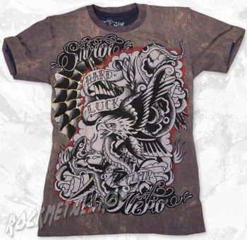 koszulka SHIROI NEKO (RUSTY BROWN & DARK BLUE)