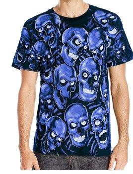 koszulka SKULLS - SKULL PILE BLUE
