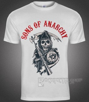 koszulka SONS OF ANARCHY - REAPER FLAG white