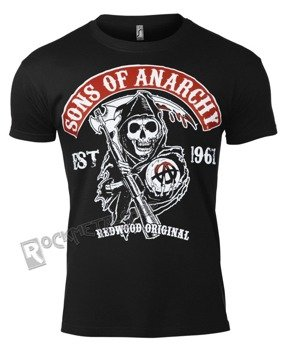 koszulka SONS OF ANARCHY - REDWOOD ORIGINAL RED PATCH