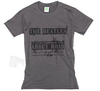 koszulka THE BEATLES - ABBEY ROAD SIGN szara