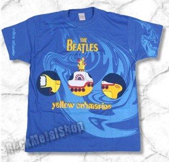 koszulka THE BEATLES -  YELLOW SUBMARINE niebieska