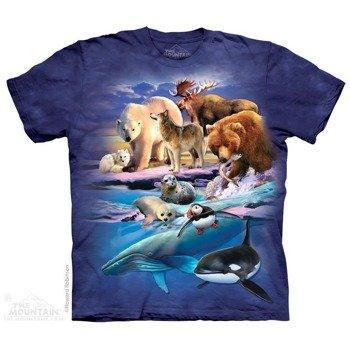 koszulka THE MOUNTAIN - ALASKA GATHERING ZOO, barwiona