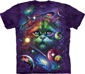 koszulka THE MOUNTAIN - COSMIC CAT, barwiona