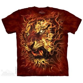 koszulka THE MOUNTAIN - FIRE TIGER, barwiona
