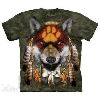 koszulka THE MOUNTAIN - NATIVE WOLF SPIRIT, barwiona