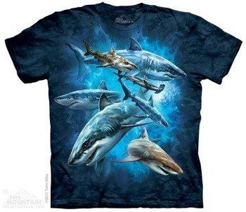 koszulka THE MOUNTAIN - SHARK COLLAGE, barwiona