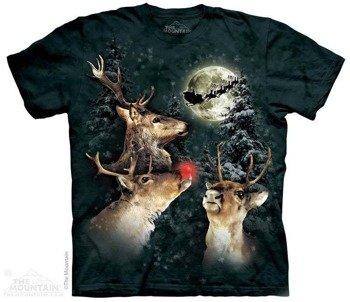 koszulka THE MOUNTAIN - THREE REINDEER MOON, barwiona
