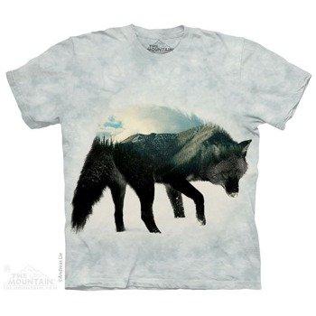 koszulka THE MOUNTAIN - ULV LONE BLACK WOLF, barwiona