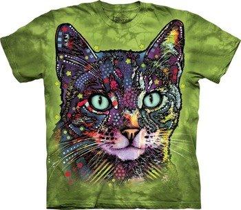 koszulka THE MOUNTAIN - WATCHFUL CAT, barwiona