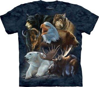 koszulka THE MOUNTAIN - WILD ALASKAN COLLAGE, barwiona