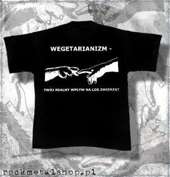 koszulka WEGETARIANIZM - TWÓJ REALNY WPŁYW NA LOS ZWIERZĄT