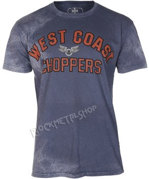 koszulka WEST COAST CHOPPERS - CREST BLOCK vintage blue