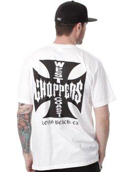 koszulka WEST COAST CHOPPERS - IRON CROSS biała