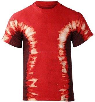 koszulka barwiona BLACK-RED MIX