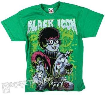 koszulka dziecięca BLACK ICON - SCOOBY zielona (JICON008GRN)