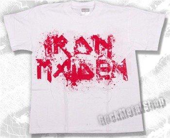 koszulka dziecięca IRON MAIDEN - LOGO biała