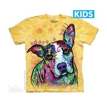 koszulka dziecięca THE MOUNTAIN - ADORE A BULL, barwiona