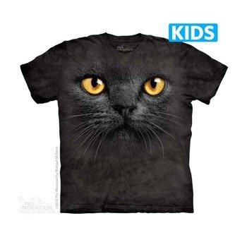 koszulka dziecięca THE MOUNTAIN - BIG FACE BLACK CAT, barwiona
