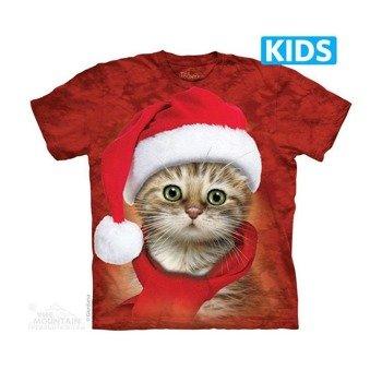 koszulka dziecięca THE MOUNTAIN - SANTA RED, barwiona