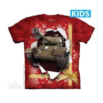 koszulka dziecięca THE MOUNTAIN - TANK PRESENT, barwiona