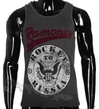 koszulka na ramiączka RAMONES - ROCKET TO RUSSIA, szara