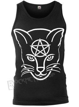 koszulka na ramiączkach AMENOMEN - HEAD CAT (OMEN029KR BLACK)