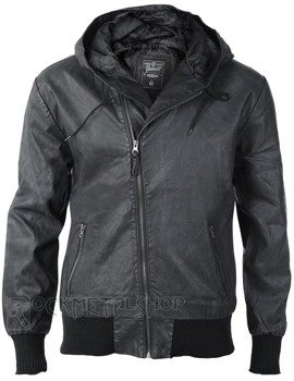 kurtka DEAN PU LEATHER JACKET - BLACK