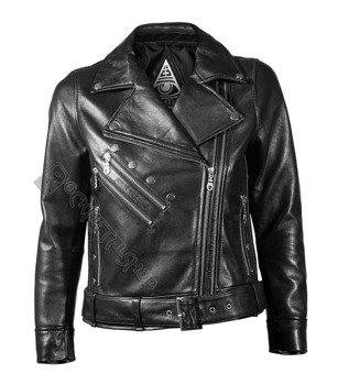 kurtka RAMONESKA DISTURBIA - DOLLS LEATHER JACKET, damska