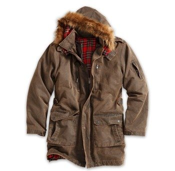 kurtka XYLONTUM GIANT PARKA - BROWN