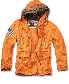 kurtka z kapturem VINTAGE EXPLORER STARS orange
