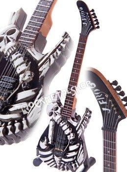 miniaturka gitary GEORGE LYNCH - SKULLS & BONES