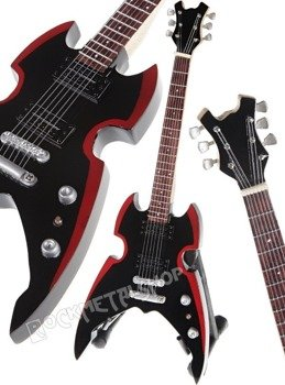 miniaturka gitary KISS - PAUL STANLEY: BLACK/RED APOCALYPSE
