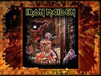 naklejka IRON MAIDEN - SOMEWHERE  IN TIME