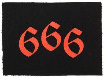 naszywka 666 - RED GOTHIC