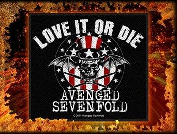 naszywka AVENGED SEVENFOLD - LOVE IT OR DIE