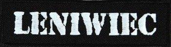 naszywka LENIWIEC - WHITE LOGO