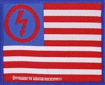 naszywka MARILYN MANSON - USA FLAG