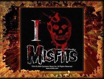 naszywka MISFITS - I HEART MISFITS