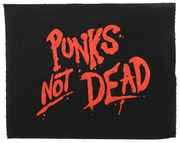 naszywka PUNKS NOT DEAD - RED
