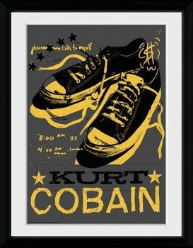 obraz w ramie KURT COBAIN - SHOES