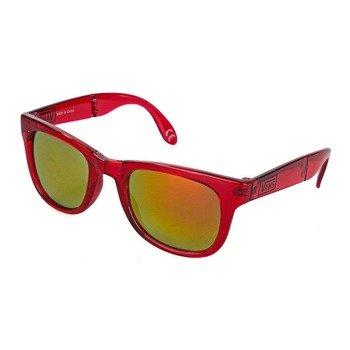 okulary VANS - FOLDABLE SPICOL TRANSPARENT RED